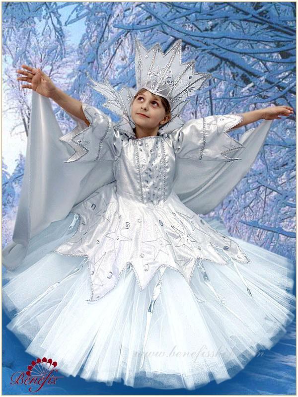 Как сделать костюм снежной королевы своими руками